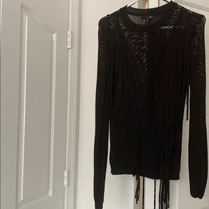 Aqua long sleeve sweater